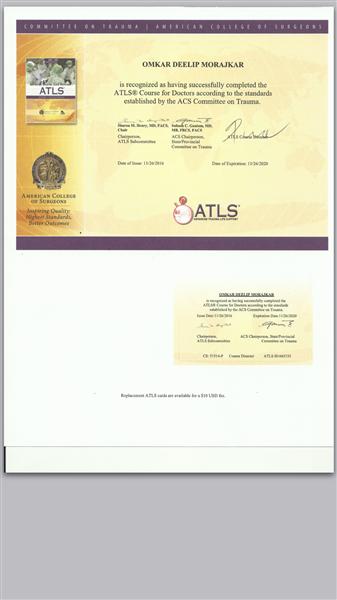 Advanced Trauma Life Support( ATLS)