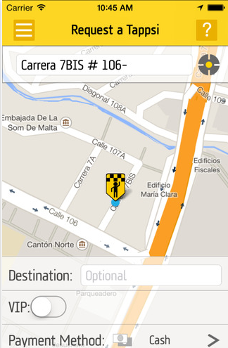 Tappsi Taxi App