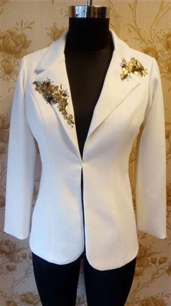 embroided blazer