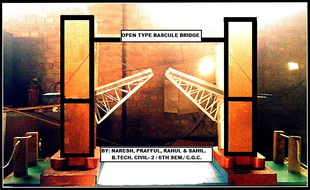 open type bascule bridge made by me & my team during college technical fest
