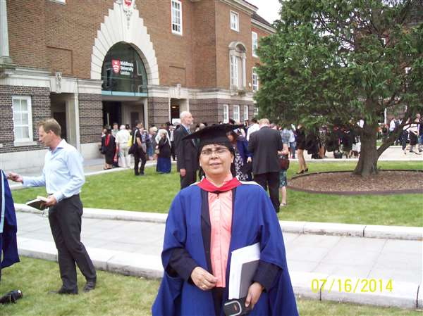 Graduation ceremony London Meddilsex University Pgdip Diabetes