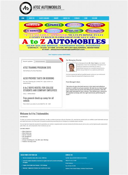 Atoz Auto mobiles website on Drupal