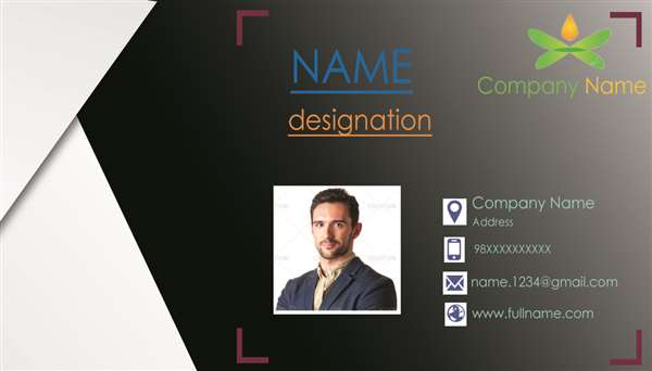 Visiting card front