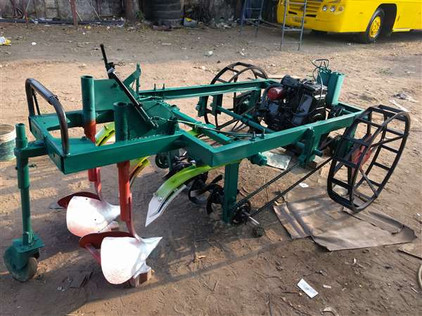 Fabrication of scale forming tiller machine