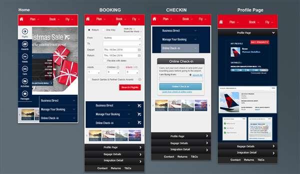 Mobile Apps Design for Airline App