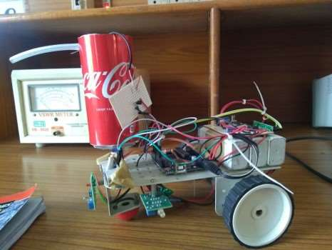 "My Major project ""Arduino Based Fire Fighting Robot"""