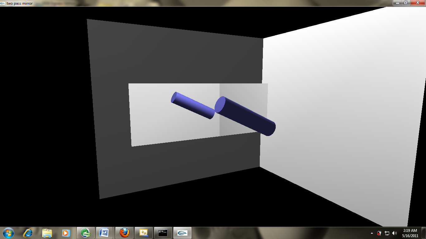 PROJECT 2:Mirror Image of Rotation Object