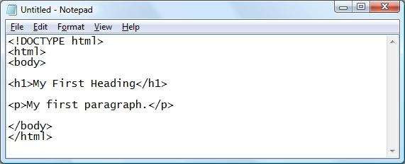 NOTEPAD TO HTML