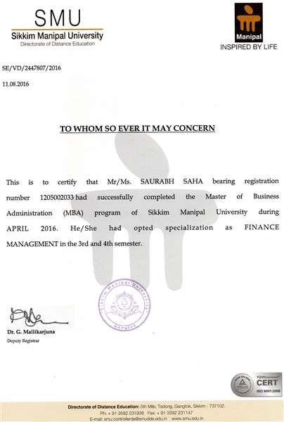 Specialization Certificat