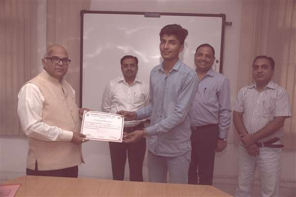 Being Awarded with Certificate of Excellence