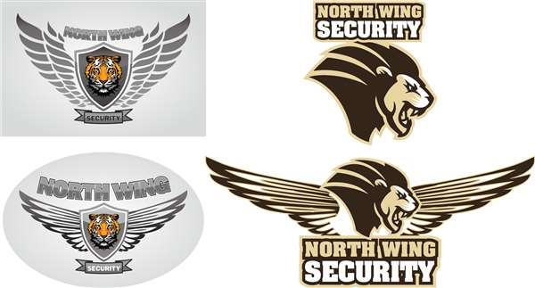 North Wing Security Logo Design