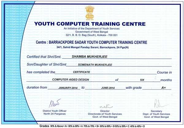 certificate on autocad