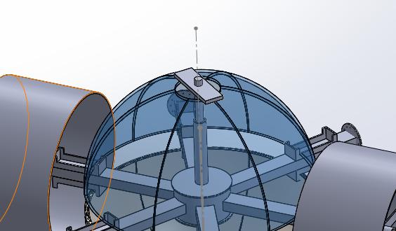 View of locking mechanism