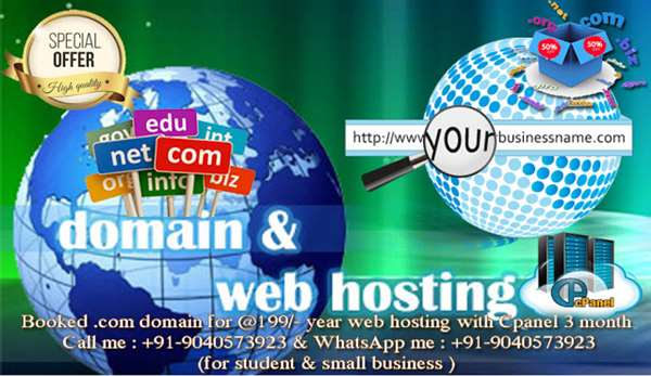 domain sale @199/- Domain & Server