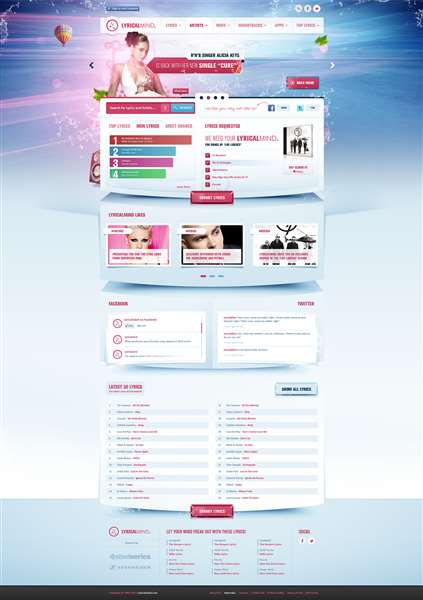 Music Lyrics Portal