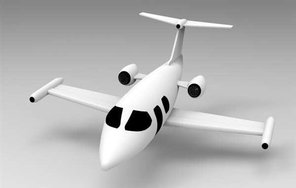 DEISGN OF PRIVATE JET (AEROPLANE) BY USING RASTER IMAGE