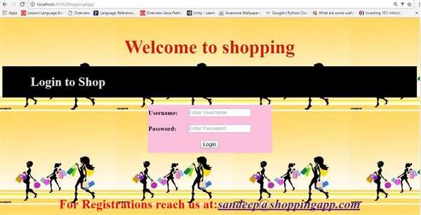 Demo Shopping Website.