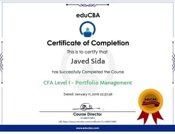 CFA Level 1-Portfolio Management