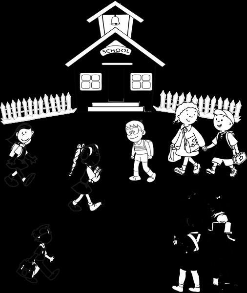 school with 8 children