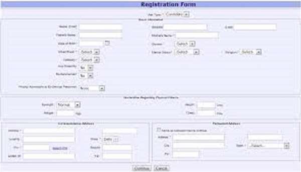 Registration Form using HTML