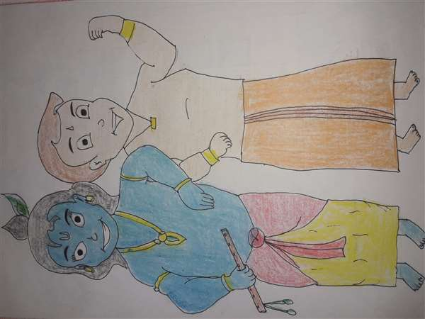 Sh. Krishna and bheem