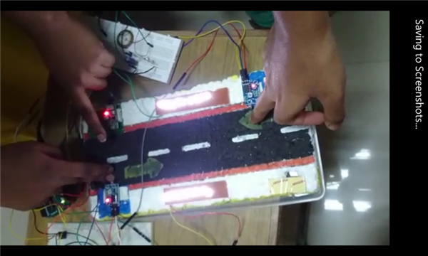 Auto intensity of street lights using piezo