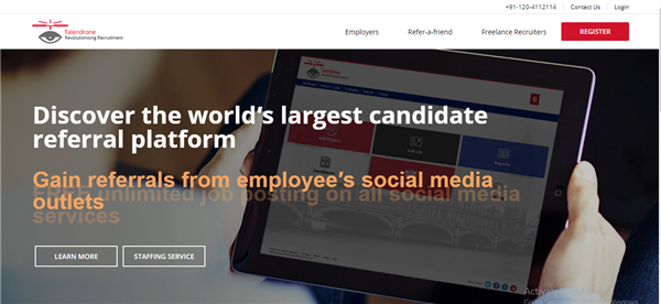 Talendrone - The UK's most advanced candidate referral platform