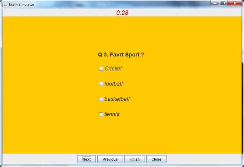 Exam Simulator (J2EE Desktop Application)