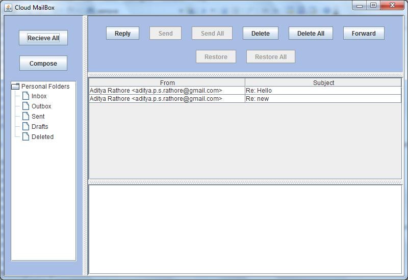 Outlook similar J2EE application.