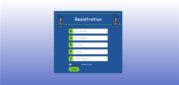 Sign Up template(written)