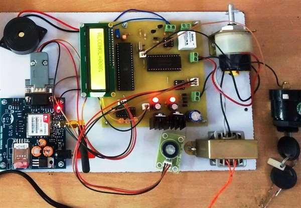 Working  on  GSM based Factory worker alchol detector with automatic  machine shutdown