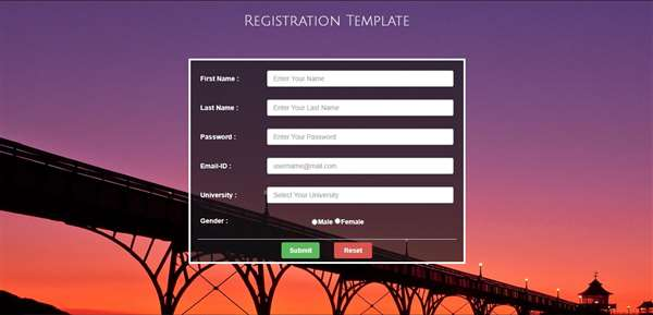 Registration Form With Validations