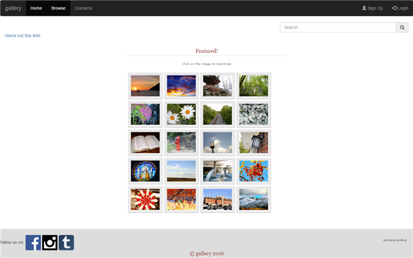 front end responsive gallery