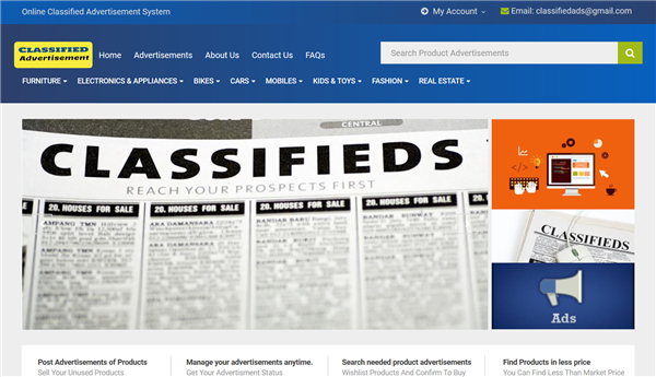 Online Classified Advertisement System