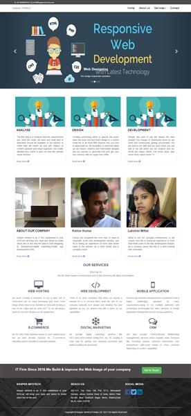 Design & develop responsive website for kasper infotech pvt ltd