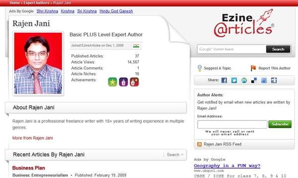 Rajen Jani is an Ezine Articles contributor