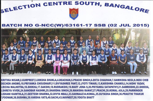 SSC NCC SPL ENTRY 17th SSB Bangalore Conference Out