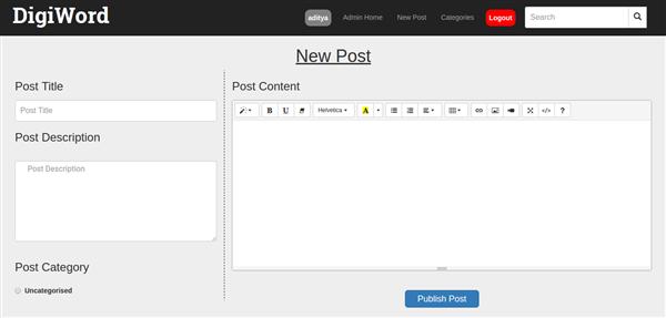 DigiWord - Blogging Platform with PHP
