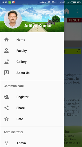 Android Application For LNCT MCA
