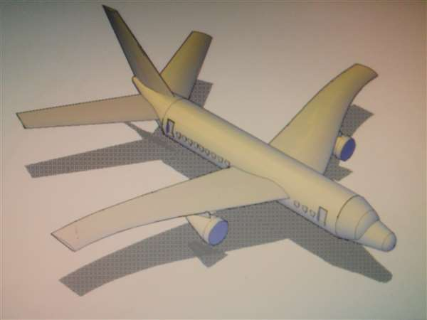 Design of commercial aircraft in AutoCAD...