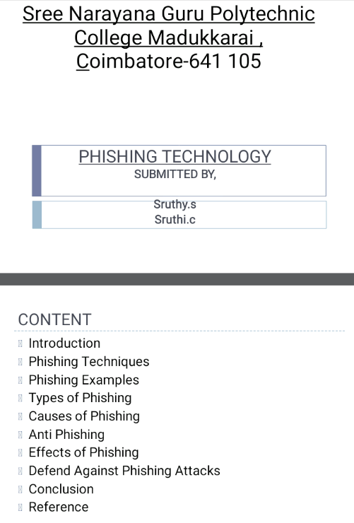 Phishing Technology