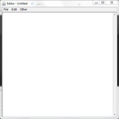 Text Editor (An application similar to Notepad that we have in Windows OS)
