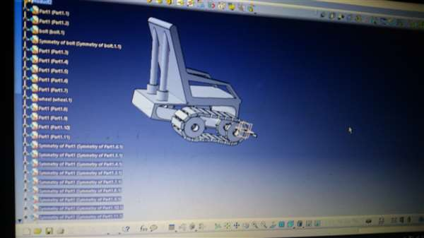 Stair Climbing Wheel Chair Assembly in CATIA