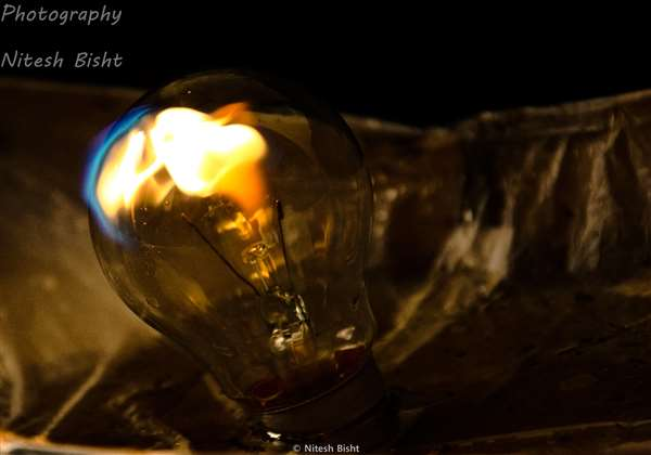 Fire with bulb