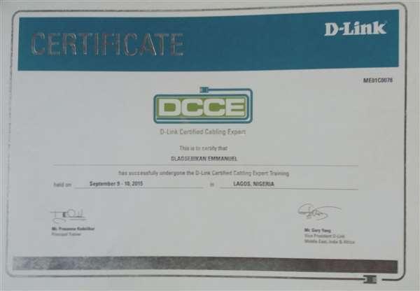 D-LINK CERTIFIED CABLING EXPERT