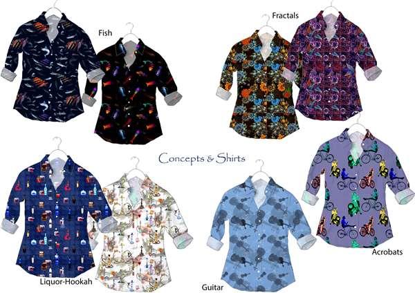 Conceptual digital shirts