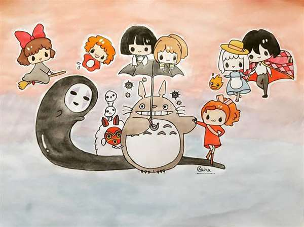 Studio Ghibli chibi  characters