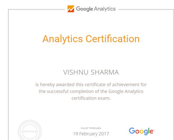 Analytics certifid
