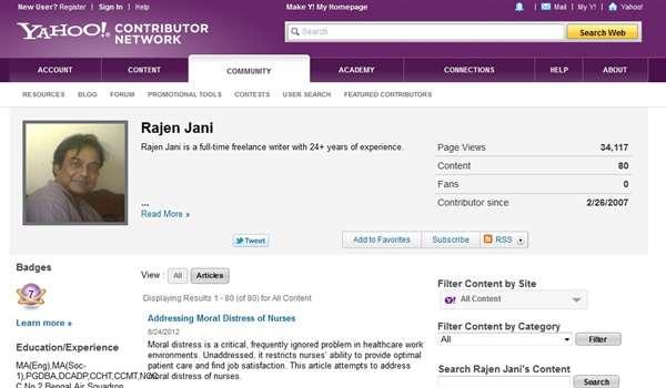 Rajen Jani is a Yahoo! Contributor