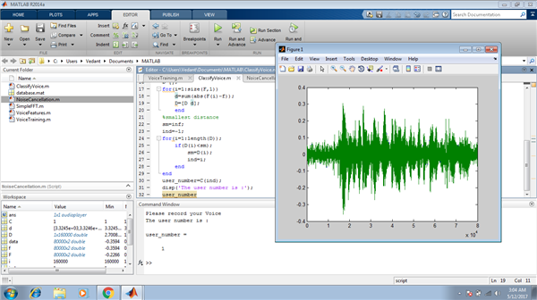 """Voice Recogniton and Detection System"""" Using MATLAB R2014a."""